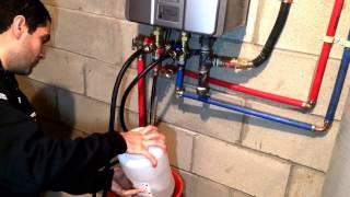 [SOLVED] Tankless water heater flush - Easy descaling method - Fix error code LC - Rinnai RL75i