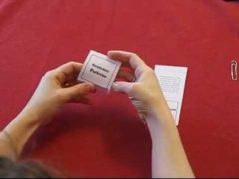 Matchbook Fold Tutorial - YouTube