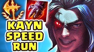 FASTEST KAYN TRANSFORM EVER!!! DOMINATING MASTERS+ WITH KHA'ZIX | NEW SOLO BARON@20 MINS BUILD IS OP