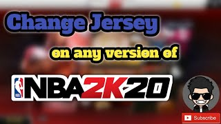 Change Jersey on NBA 2K20