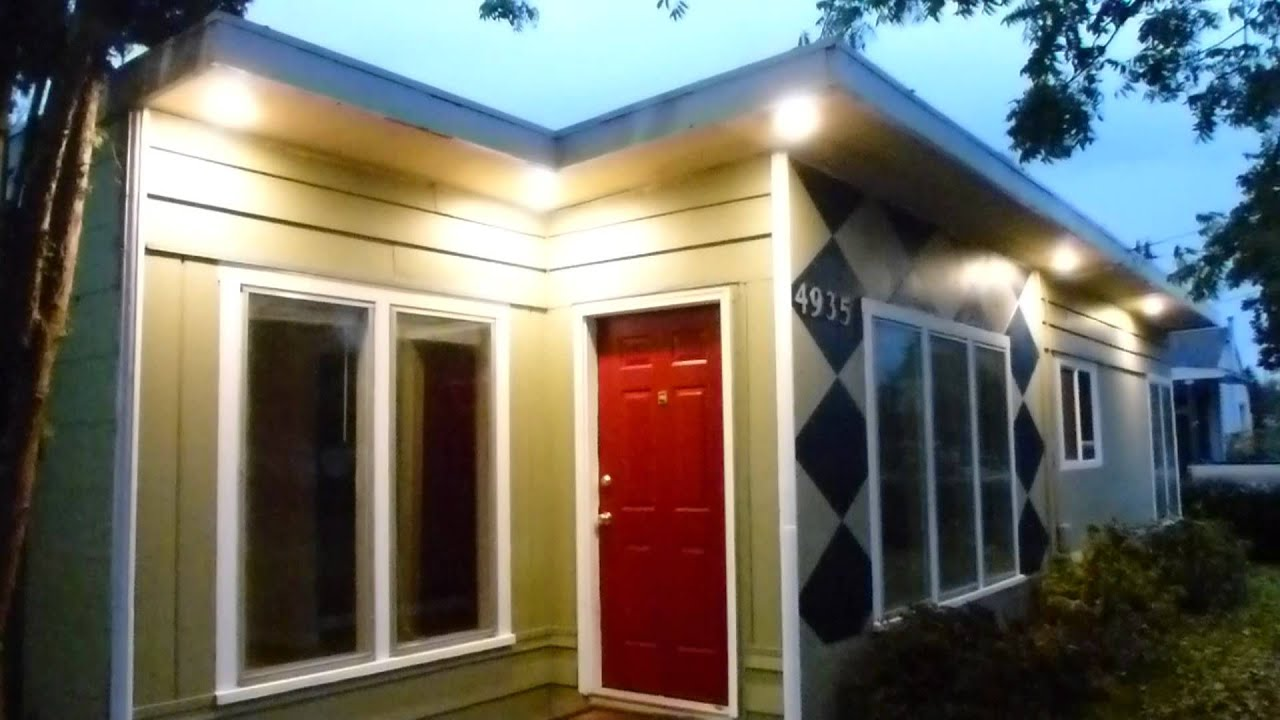 LED exterior soffet light retrofit project - YouTube