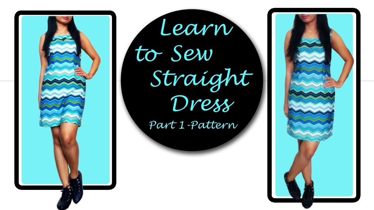 How to sew simple dress straight dress sheath dress part 1 how to sew simple dress straight dress sheath dress part 1 pattern jeuxipadfo Images