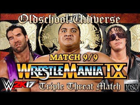 "Oldschool Universe #013 WRESTLEMANIA | Match 9: Razor Ramon VS. Bret ""The Hitman"" Hart VS. Yokozuna"