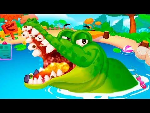 ЗООПАРК для самых маленьких Пурумчат! Крокодил #1 Кид отправится помогать животным в клетке