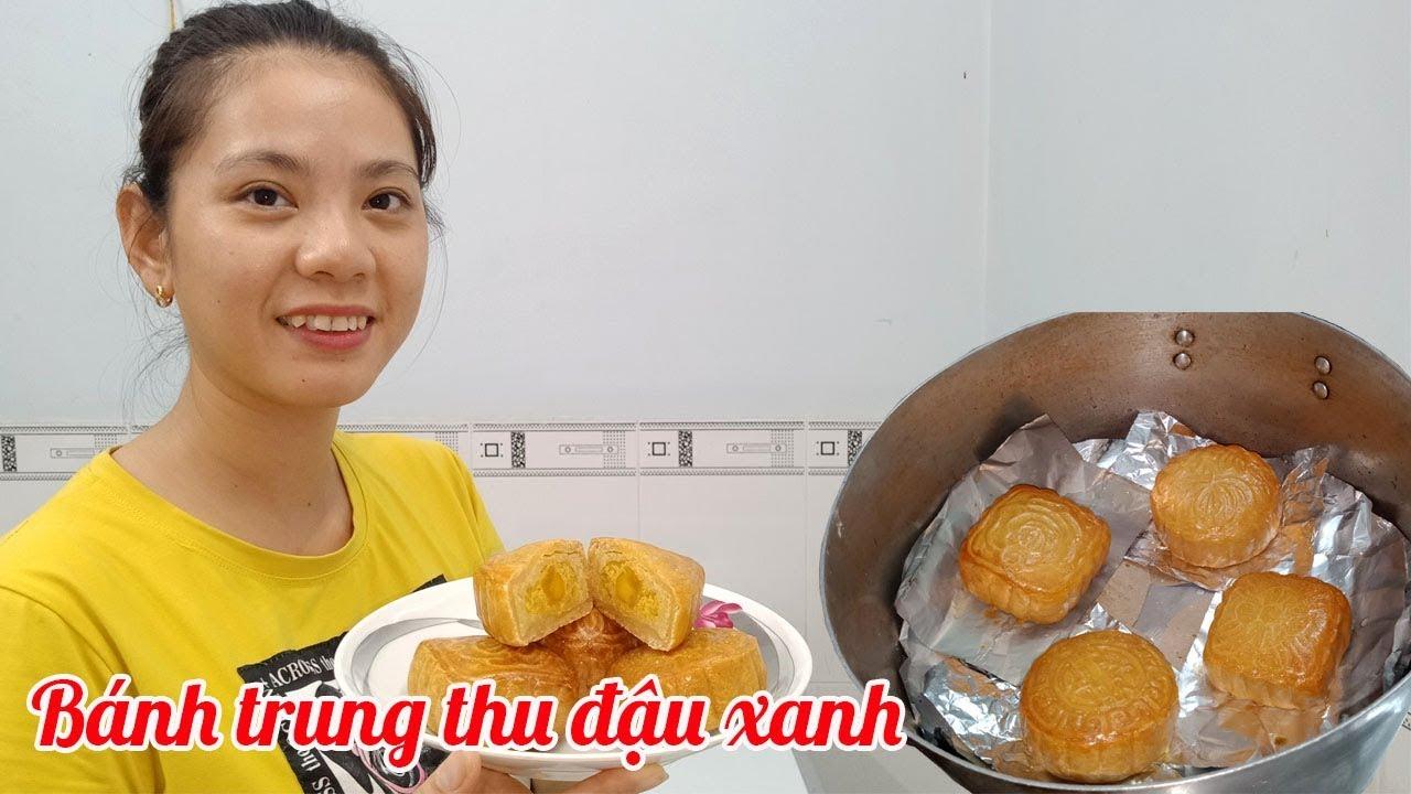 Cô gái Bến Tre - hướng dẫn - Cách làm bánh trung thu đậu xanh trứng muối không cần lò nướng