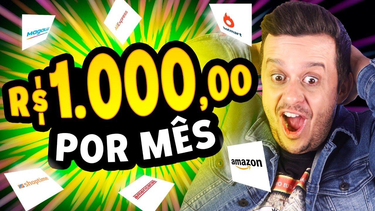 Como Ganhar R$1000 TODO MÊS como AFILIADO da Magazine Luiza, Amazon, Americanas, Hotmart, Aliexpress