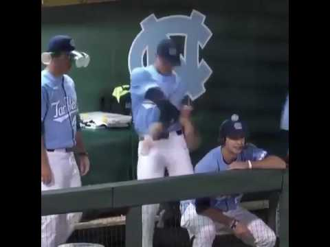 UNC Baseball Player Goes Hard