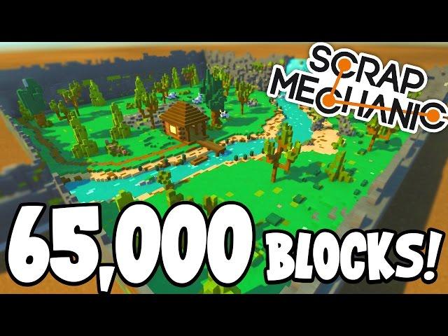 Scrap Mechanic CREATIONS! - 65 THOUSAND BLOCK CREATION!! [#32] W/AshDubh | Gameplay |