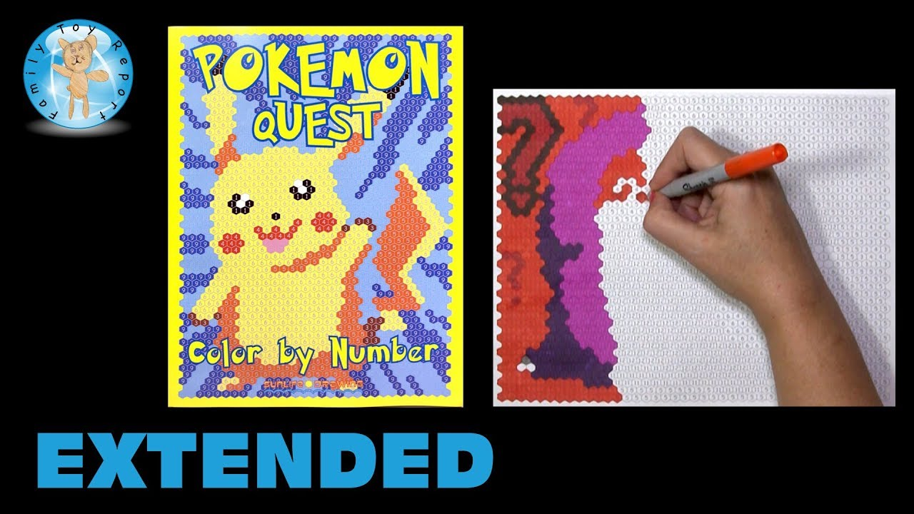 Pokemon Quest Color by Number Coloring Book Extended -- Family Toy ...