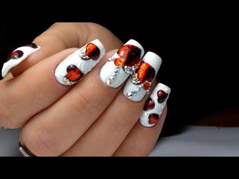 Дизайн ногтей на день Святого Валентина | Nails design for Valentine's day