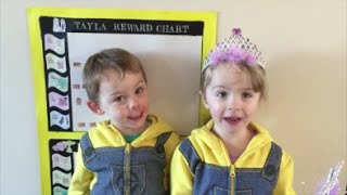 Toddler Twins home-made Rewards Chart & Prize Box