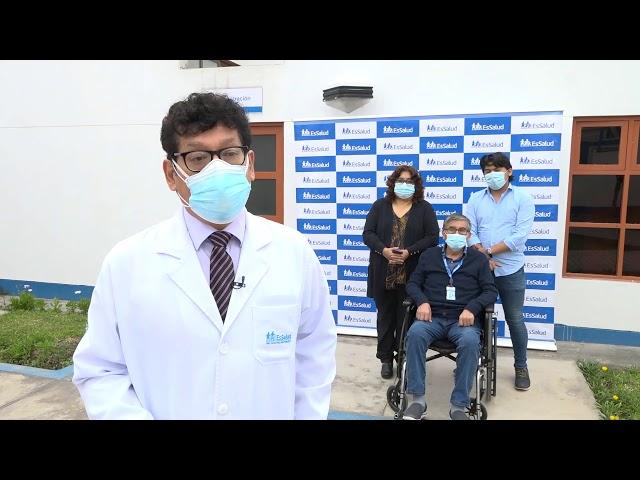 Médico de EsSalud derrotó al COVID-19 tras 83 días de internamiento en Hospital Sabogal