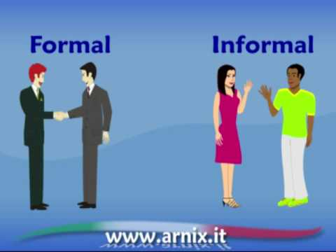 Italian video lesson - formal or informal?