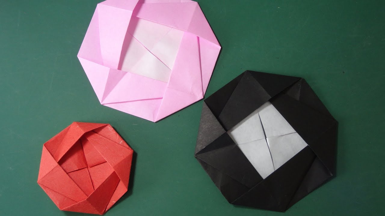 折り紙の 折り紙の織り方 : 花の折り紙「カメリア」折り方 ...