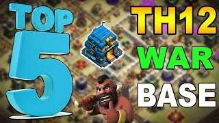 🔥TOP 5🔥 TH12 WAR BASE 2018 Anti 2 Star With +17 Replays Anti Bowler Miner,E-Dragon,Anti Queen Walk
