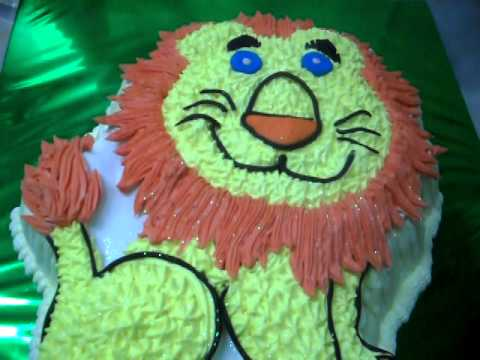 GURU CHEF ROHAN CREATES A LION SHAPED CAKE (SINHA -LION) - YouTube