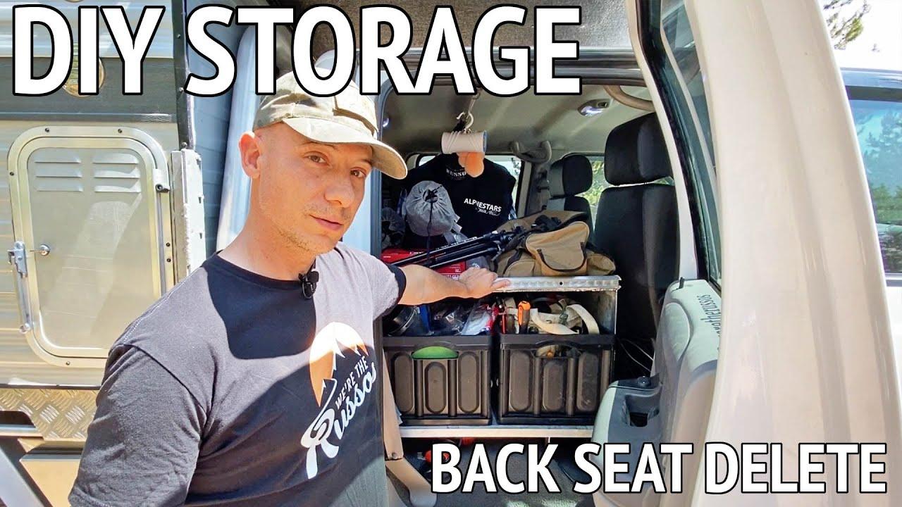 DIY Back Seat Storage Build Out for Overland Truck Camper