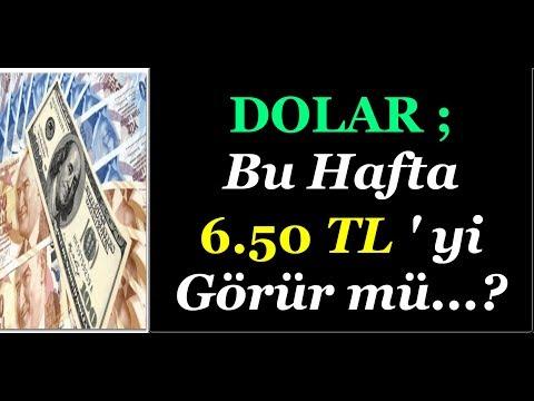 #DOLAR BU HAFTA 6.50 TL OLUR MU...?