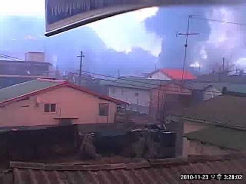 북한 연평도 포격 당시 CCTV.avi