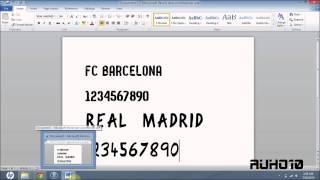 Download FC Barcelona & Real Madrid 13/14 Fonts