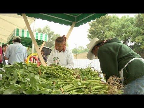Les déchets deviennent nourriture sur un marché mexicain