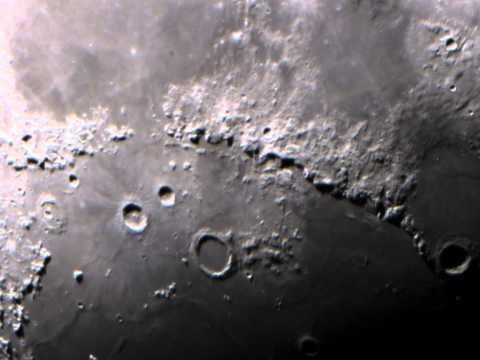 Montes Apenninus video through the telescope