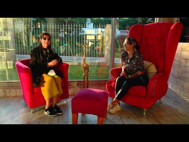 Charlita con mi amiga Yami en su nuevo emprendimiento