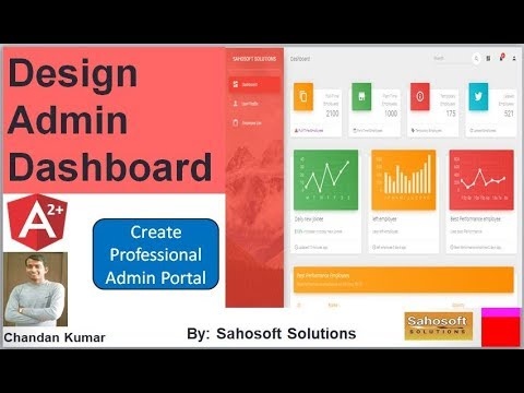 Design Admin Dashboard in angular 7| Admin Dashboard thumbnail