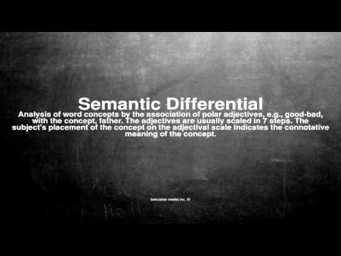 Medical vocabulary: What does Semantic Differential mean