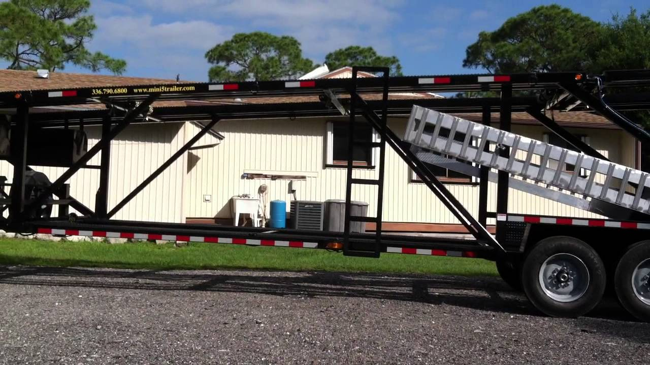 Kaufmann 5 car mini car hauler, car trailer - YouTube