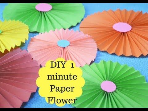 DIY Paper Flower For Diwali