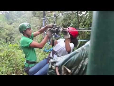 Canopy Zipline Adventure in Mindo Ecuador & Canopy Zipline Adventure in Mindo Ecuador - YouTube