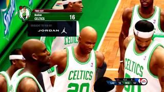 NBA Live 10 Gameplay Boston Celtics vs Los Angeles Clippers