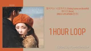 [1 시간 / 1 HOUR LOOP] 헤이즈 (HEIZE) - 떨어지는 낙엽까지도 (FALLING LEAVES ARE BEAUTIFUL)