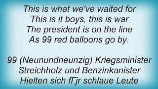 99 Red Balloons English Lyrics