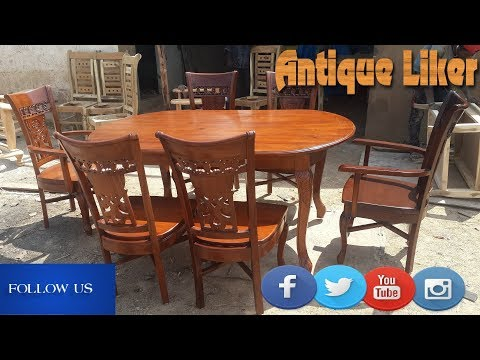 Wooden dining table DESIGN with cushion seats.Furniture Decor Online furniture Antique Liker