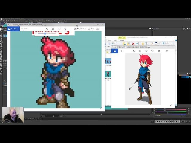 Isometric pixel art JRPG sprite feed back