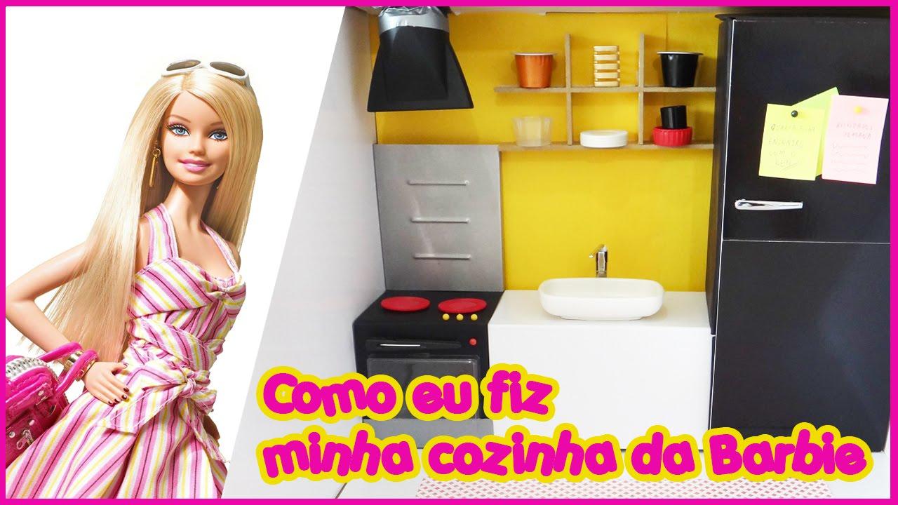 Casa da Barbie  Minha Cozinha  YouTube