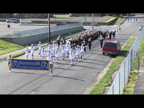 Bremerton High Marching Band performing Anchors Aweigh