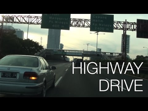 Highway Drive in Jakarta (Indonesia)
