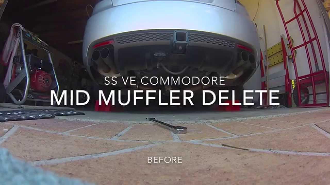 SS VE Commodore Mid Muffler Delete