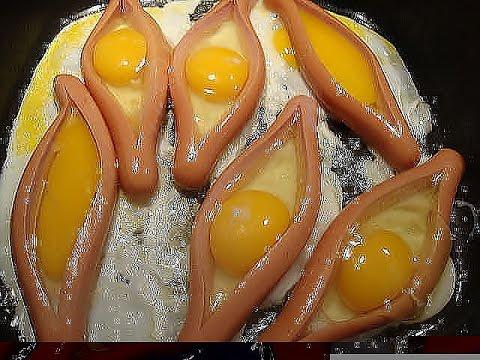 Яйцо в сардельке