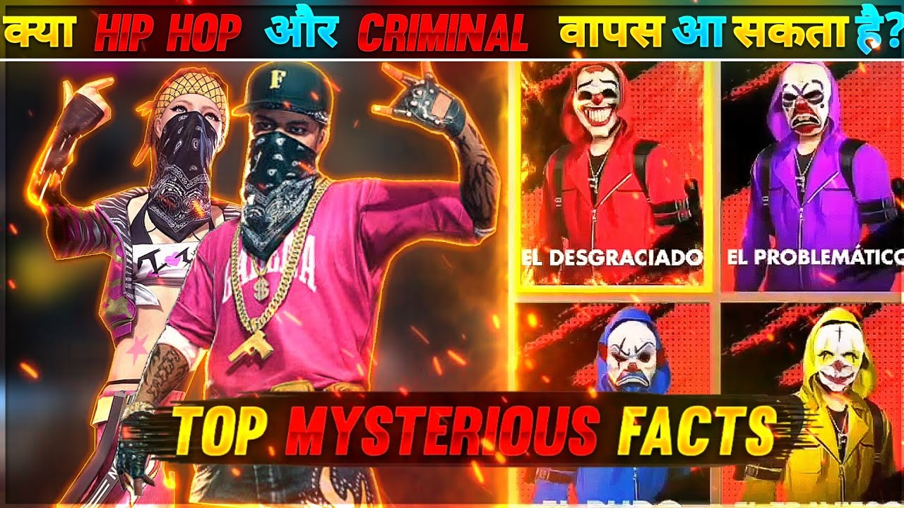 KYA KABHI HIP HOP OR CRIMINALS RETURN AASKTE HAI?😱||MYSTERIOUS AND UNKNOWN FACTS || GARENA FREE FIRE