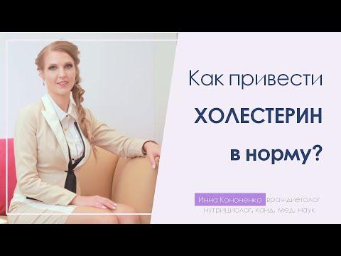 Как понизить холестерин? Регуляция жирового обмена.  Диетолог Инна Кононенко, Санкт Петербург.
