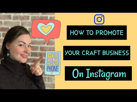 How to Promote Your Etsy Shop on Instagram. How to advertise your craft business for free on IG.