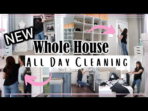 EXTREME WHOLE HOUSE CLEAN WITH ME   ALL DAY CLEAN WITH ME 2020   Til Vacuum Do Us Part