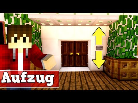 Minecraft Aufzug 1.11 und 1.12 | Minecraft Aufzug bauen deutsch