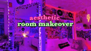 EXTREME ROOM MAKEOVER + TRANSFORMATION *pinterest/tiktok inspired*