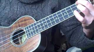 How to play Bob Dylan 32-20 Blues cover on the ukulele