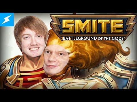 DEATH BATTLE's Wiz & Boomstick play SMITE w/ Sam